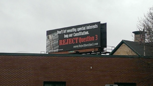 Coalition for Responsible Government Billboard on Route 95 without Required Disclosures